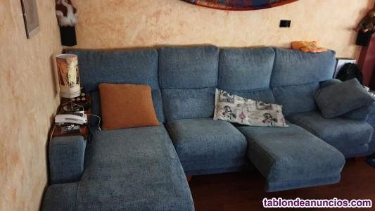 Sofá de 4 plazas con chaflán, 2.83m.extensible y