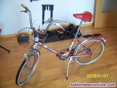 Bicicleta bh plegable rojo