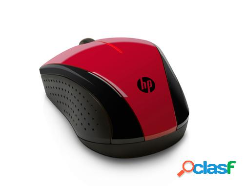 HP Ratón inalámbrico rojo brillante X3000