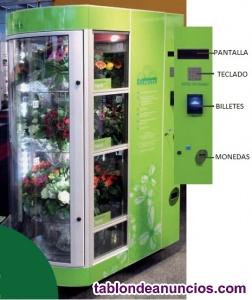 Máquina expendedora de flores