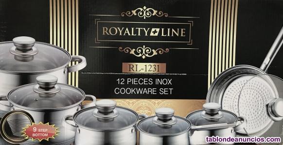 Batería de cocina 12 piezas acero inoxidable  aptas