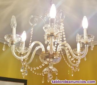 Lámpara de techo en cristal tallado