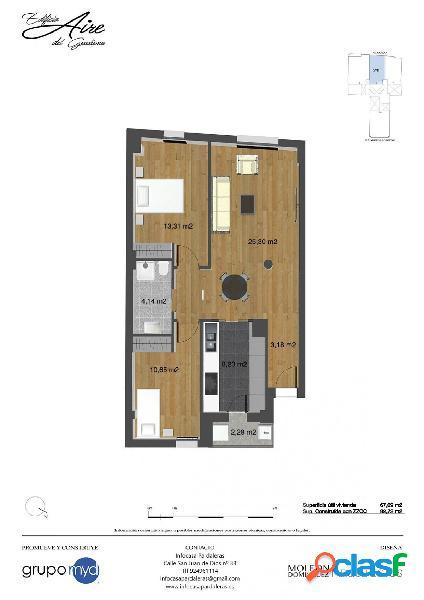 Apartamento en venta de nueva construcción en Pardaleras