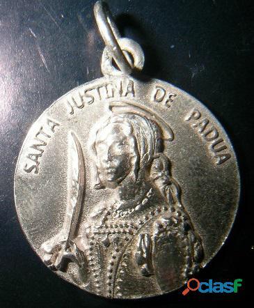 MEDALLA VIRGEN SANTA JUSTINA DE PADUA,EN ORO O EN PLATA
