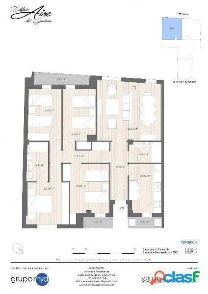 Piso de nueva construcción en venta en Pardaleras