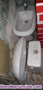 Se vende bidet, lavabo y cisterna marca roca