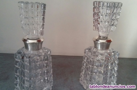 Bote de cristal tallado de cristal de bohemia