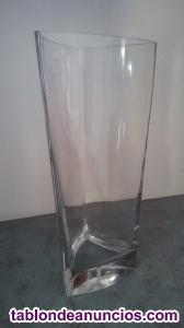Jarrón - florero de cristal grueso