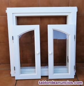 Juego de 4 premarcos y ventanas de madera