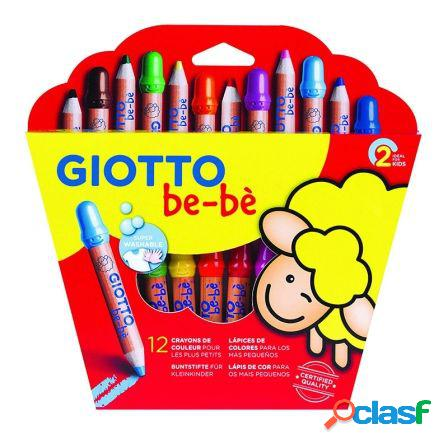 Pack 12 lapices de colores giotto be-be 469700 - mina