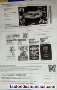 Entrada concierto metallica madrid 3 de mayo