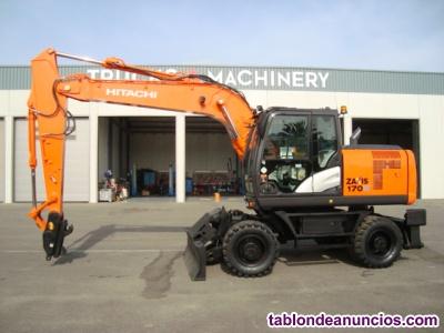 Excavadora giratoria de ruedas hitachi zaxis 170w