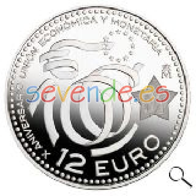 MONEDA DE 12 EUROS PLATA