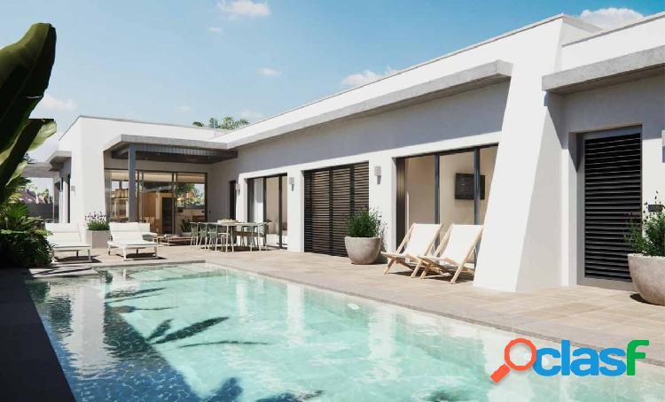 Nuevas villas en una sola planta, piscina privada y amplias