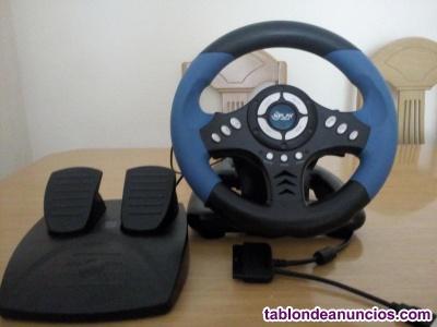 Volante y pedales pc/ps2/ps3