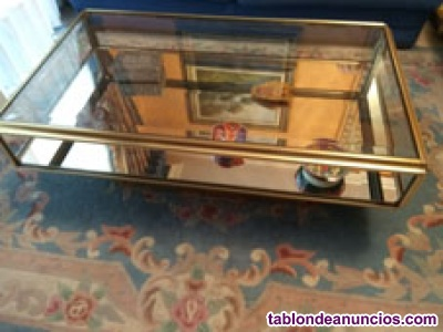 Mesa de cristal de salón baja