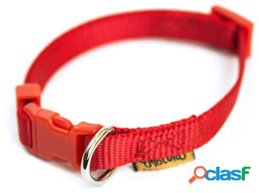 Miscota Collar de Nylon Rojo para Perros L