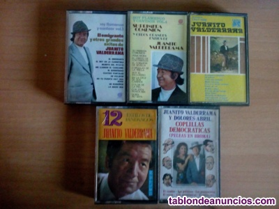 Cintas de cassette juanito valderama,pack 5