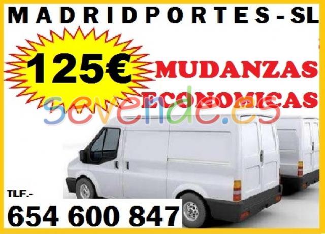 EMPRESA DE MUDANZAS EN MAJADAHONDA 125EUR 654