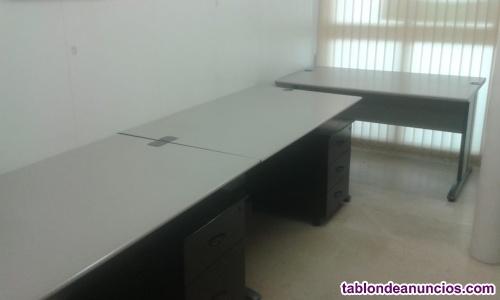 Mesas de despacho grafito, lote de 5