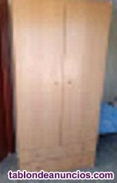 Armario de dos puertas y dos cajones