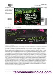 Vendo entrada concierto punk in drublic