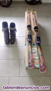 Esquis + fijaciones rossignol + botas ski 42