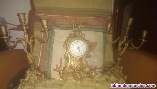 Reloj+2 candelabros a juego