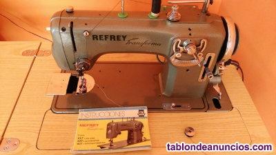 Vendo máquina de coser, refrey transforma 427