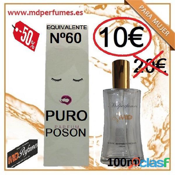 Perfume Mujer Equivalente n 60 Puro Poson 100ml Alta Gama