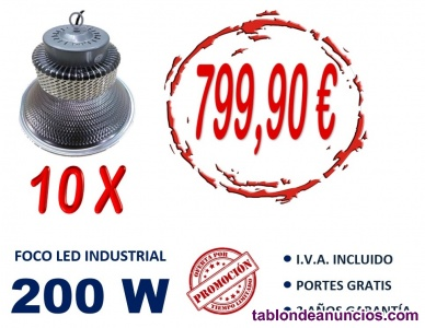Pack de 10 campanas led 200w