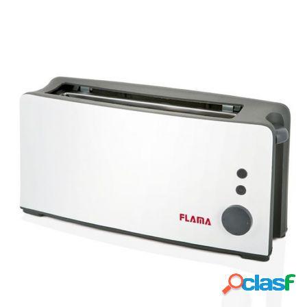 Tostador de pan flama 958fl blanco - 900w - ranura extra