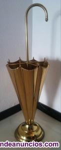 Paragüero de latón dorado y lacado