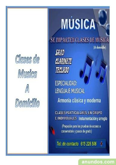 Clases de musica a domicilio - Alcalá de Guadaíra