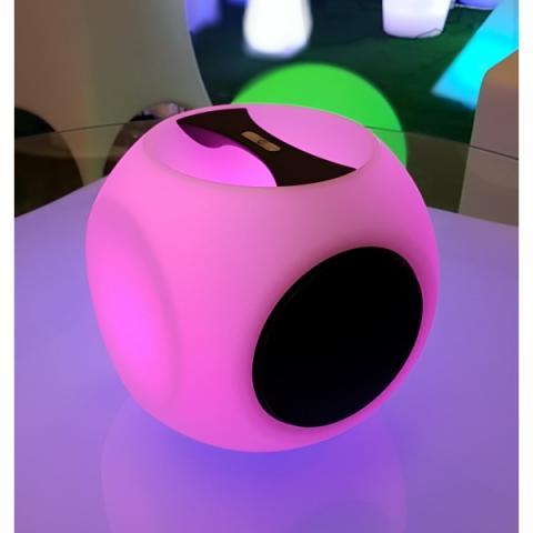 Lampara led RGB con altavoz bluetooth incorporado
