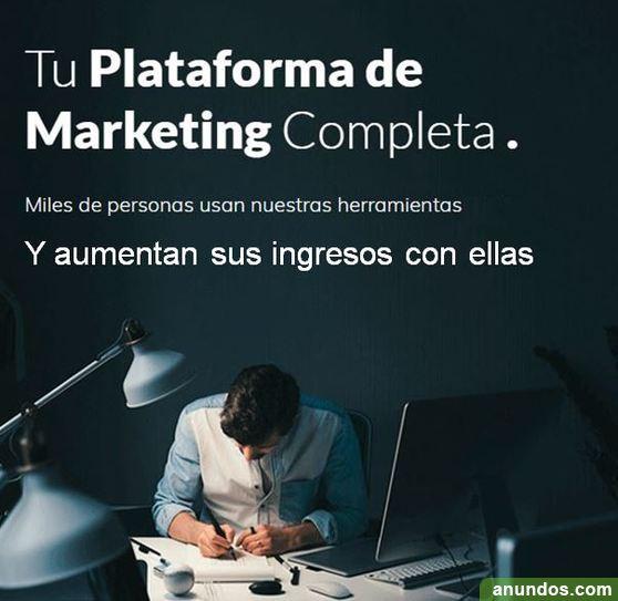 Tu plataforma de marketing completa para impulsar tu negocio