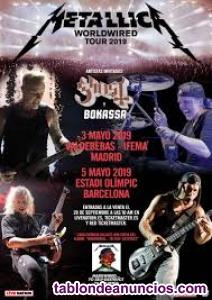Vendo 2 entradas concierto metallica en barcelona - pista