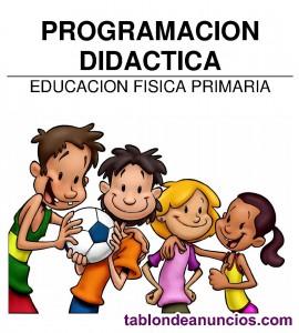 Programacion y unidades didacticas ef primaria