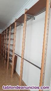 Módulos de madera para acoplar pared tienda 27 unidades.