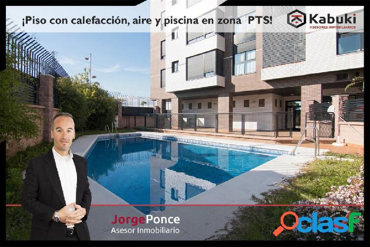 ¿Quiere vivir en un piso nuevo con piscina junto al PTS?