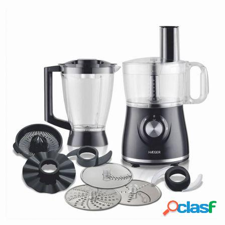 Robot de cocina haeger multi cook - 600w - 8 en 1 - 2