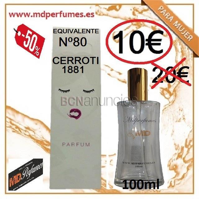 Perfume equivalente mujer cerroti ml alta gama marca blanca