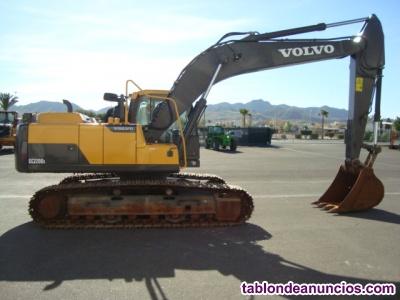 Retro excavadora giratoria de cadenas volvo ec220dl
