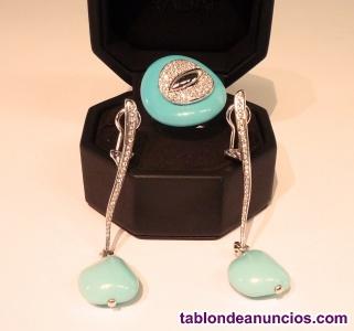 Conjunto anillo y pendientes gavello
