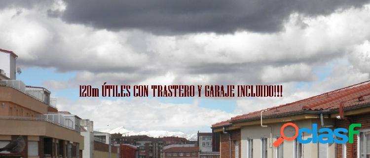 GRAN PISO DE 120m ÚTILES CON TRASTERO Y GARAJE INCLUIDO!!!