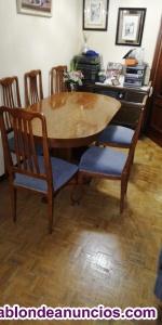 Mesa comedor de salón y 6 sillas