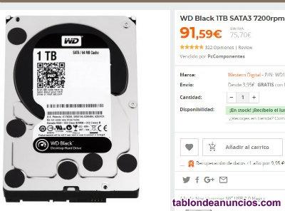 Wd black 1tb nuevo