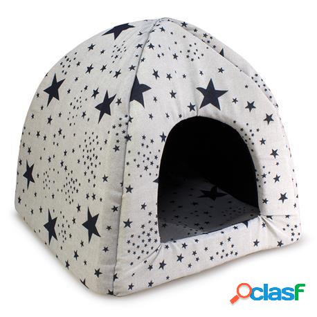 Arquivet Iglú Estrellas Negras para Perros y Gatos 480 GR