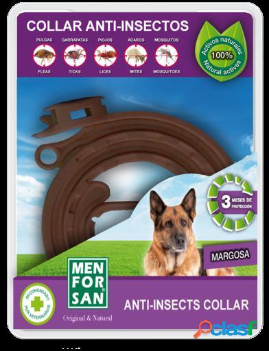 Men For San Collar anti insectos para perros con margosa 100