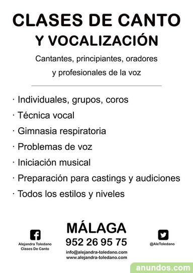 Clases de canto. málaga. técnica vocal - Marbella